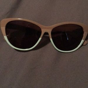 Betsey Johnson brown and blue sunglasses